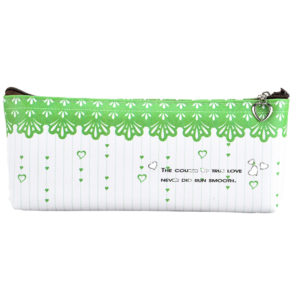 Pencil case with closure green-0