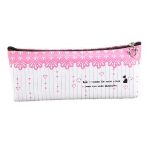Pencil case with zipper closure pink-0