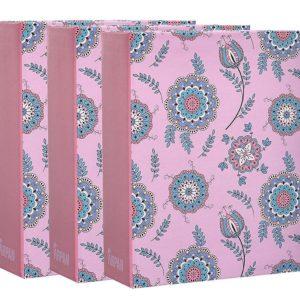 Photo Album Pink Floral 6x4'' x 100 Hold Slip in Album x 3 -0