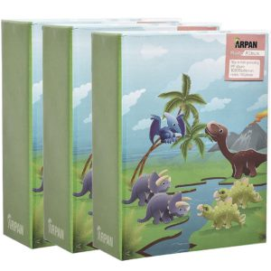 Photo album black 6x4'' x 100 hold slip in album dinosaurs x 3-0