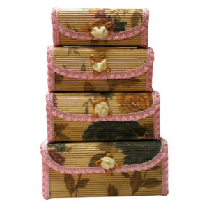 Bamboo Storage Box Home Organiser Jewellery Beads Boxes -0