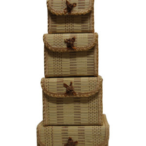 Bamboo Storage Box Home Organiser Jewellery Beads Boxes-0