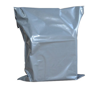 "Grey Polythene Mailing Bags – Self Seal-17""X22""-0"