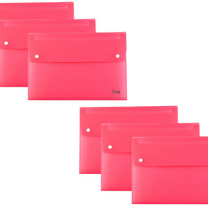 Expanding File A4 13 Part Pink Pack 6-0