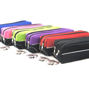 Double Zip Fabric Pencil Case-0