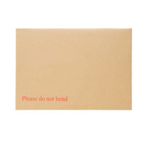 A4 C4 Hard Card Board Back Envelopes with 'Printed Please Do Not Bend' Pack 125-5268