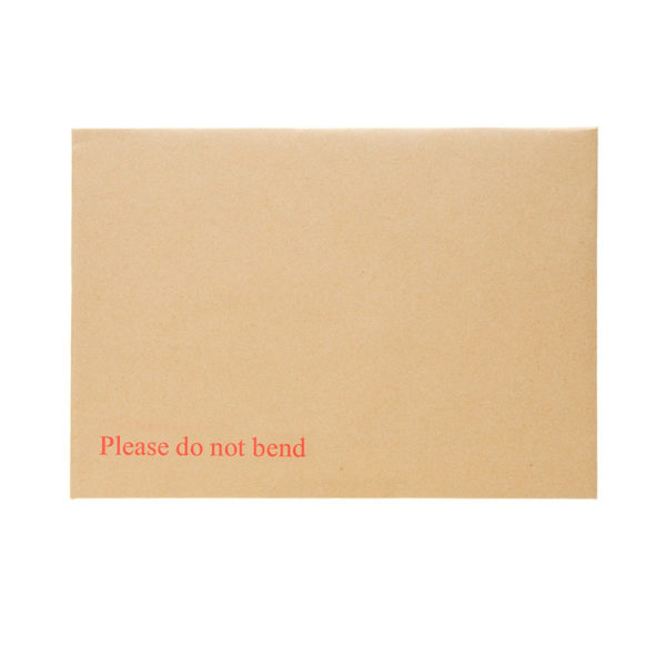 Hard Card Board Back Envelopes C5 A5 with 'Printed Please Do Not Bend' Pack 125-5272