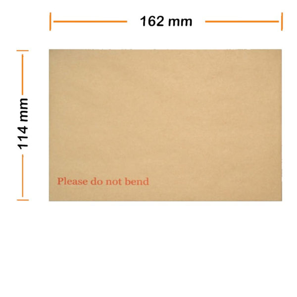 "A6 C6 Hard Board Back Manila Envelopes ""Do Not Bend"" -0"
