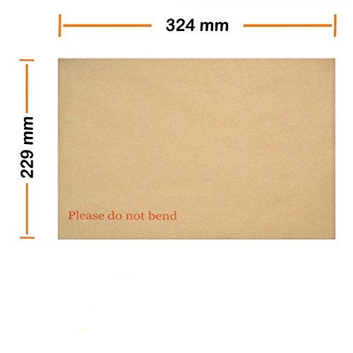 "A4 C4 Hard Board Back Manilla Envelopes 324mm x 229mm ""Do Not Bend"" Pack 250-0"