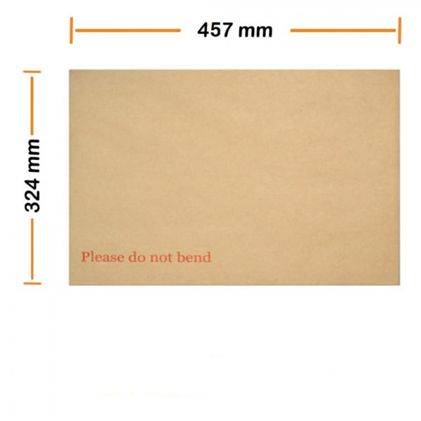 "A3 C3 Hard Board Back Manilla Envelopes ""Do Not Bend"" Pack 200-0"
