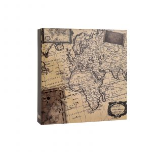 "Photo ALbum Holds 200 Photos 4x6"" Old Map-0"