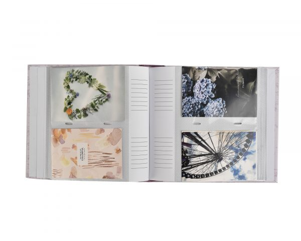 "Photo Album Holds 200 Photos 4x6"" Purple Memories -6420"