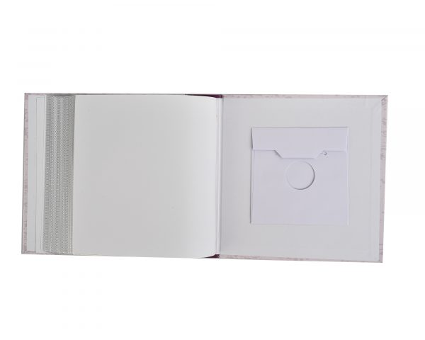 "Photo Album Holds 200 Photos 4x6"" Purple Memories -6421"