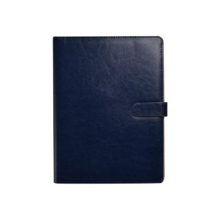 A4 Portfolio Document Organizer with Clipboard & Pad Blue-0