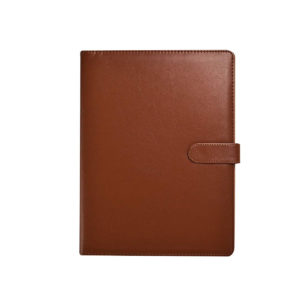 A4 Portfolio Document Organizer with Clipboard & Pad Brown -0