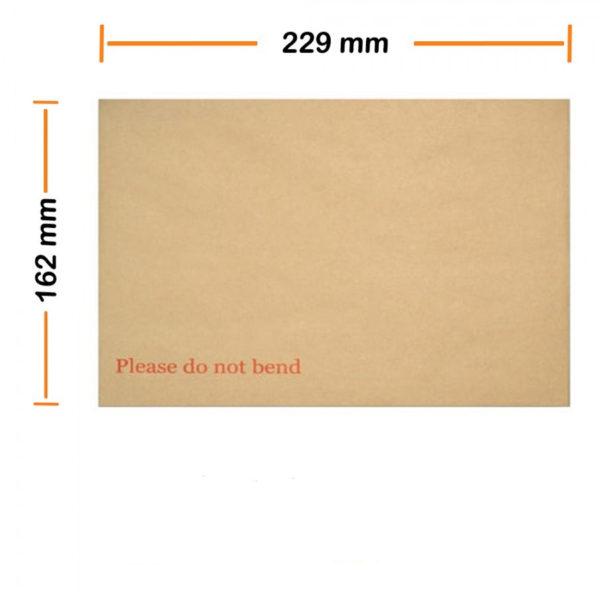 "C5 / A5 Hard Board Back Manilla Envelopes ""Do Not Bend"" Pak of 1000-0"