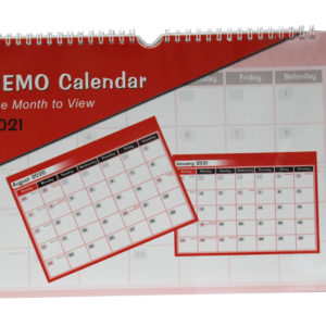 2020-2021 One Month to View Memo Calendar Planner A4 Size -0