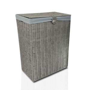 Resin Laundry Basket Bin Grey-0