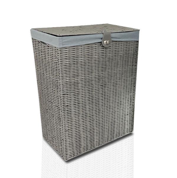Resin Laundry Basket Bin Grey-0