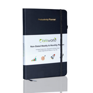Clarisworld A5 Productivity Planner Weekly Black-0