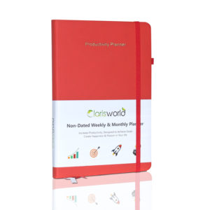 Clarisworld A5 Productivity Planner Weekly Red-0