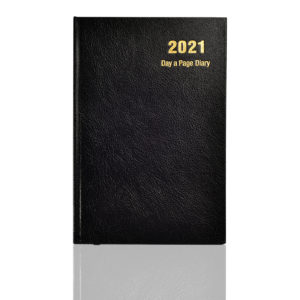 A5 2021 Day a Page Diary Black-0